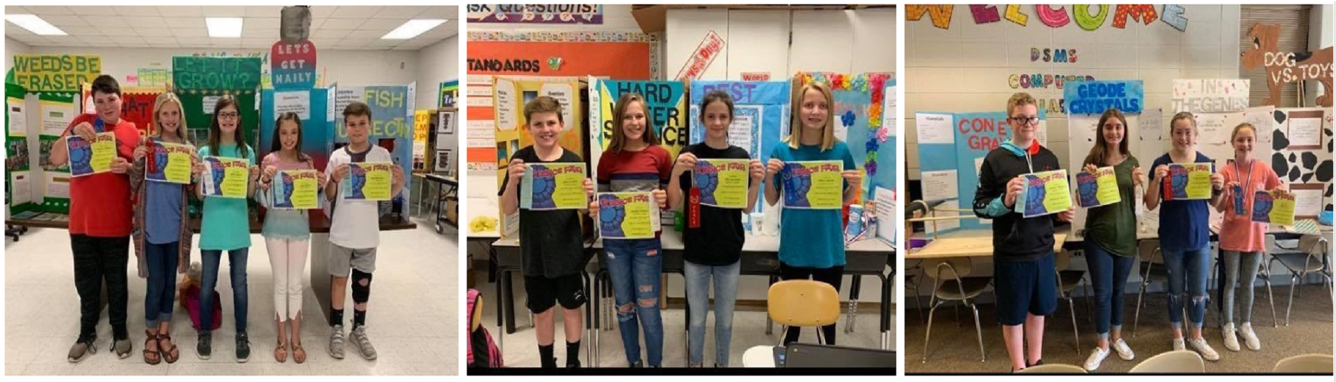 2019 Fall Science Fair Winners