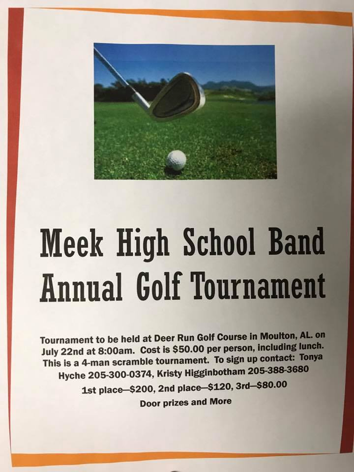 MHS Band Golf Tournament Flyer
