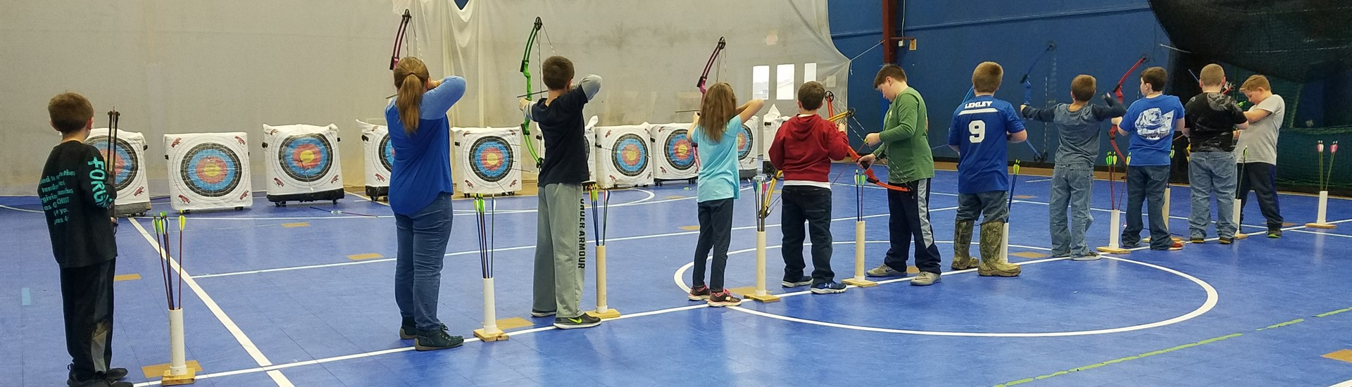 Addison Elementary Archery Team practices in preparation for the Regional Tournament this Spring.