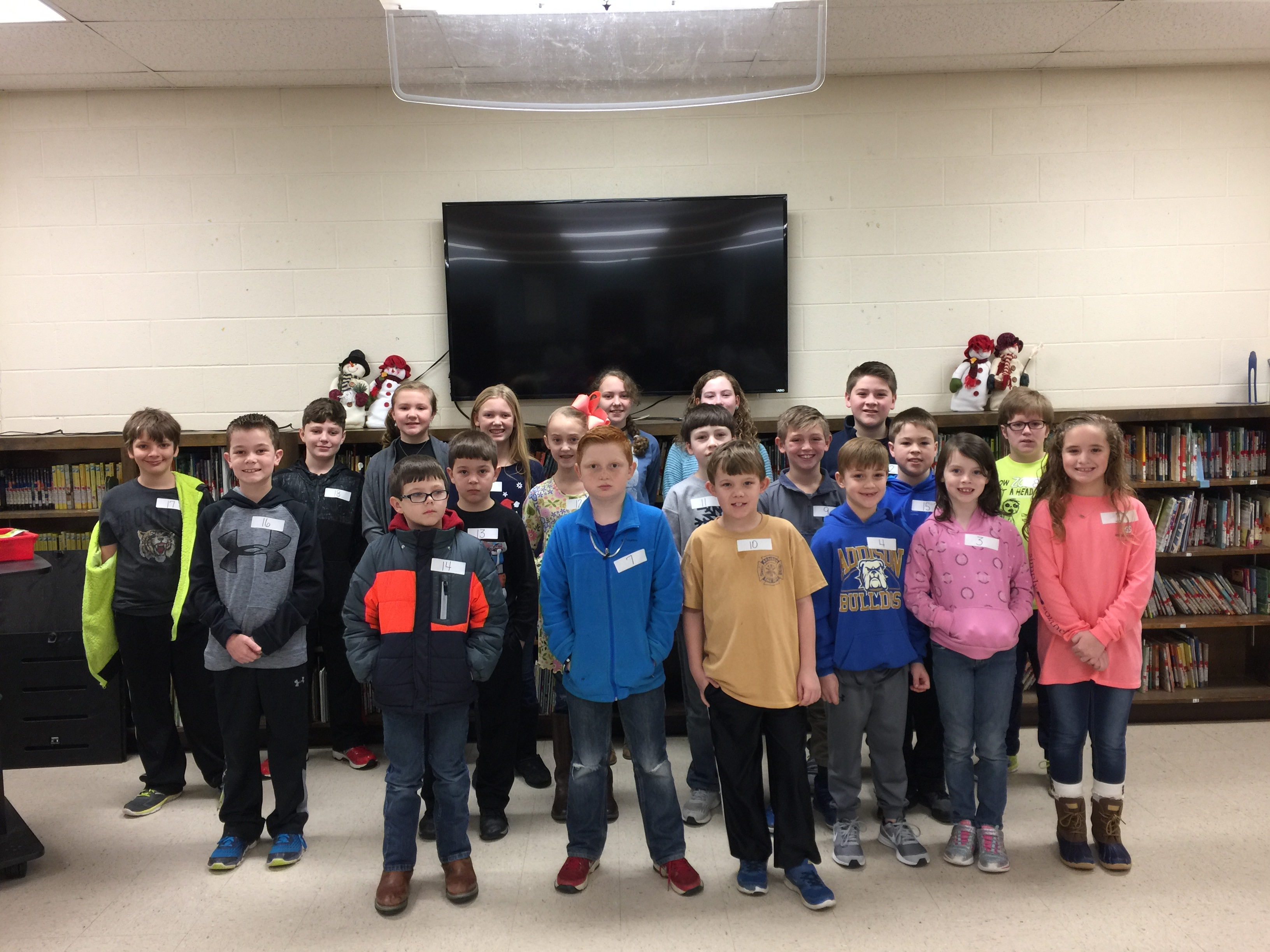 AES Spelling Bee 2018 Participants